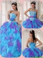 Popular Ball Gown Floor Length Appliques Quinceanera Dresses