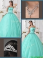Popular  Beading Sweetheart Quinceanera Dresses  in Green