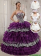 Popular Purple Ball Gown Sweetheart Quinceanera Dresses