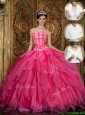 Popular Strapless Quinceanera Dresses with Appliques and Ruffles