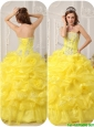 Puffy Strapless Beading and Ruffles Quinceanera Dresses