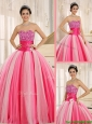 Best Selling Strapless Lace Up Sweet 16 Dresses  in Multi Color