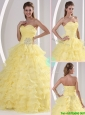 Gorgeous Sweetheart Sweet 16 Dresses  with Appliques and Ruffled Layers