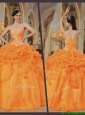 Hot Sale Orange Red Sweetheart Sweet 16 Dresses with Appliques