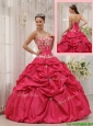 Puffy Ball Gown Sweetheart Appliques Quinceanera Dresses