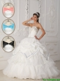 Puffy White Ball Gown Sweetheart Quinceanera Dresses