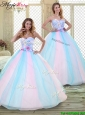 2016 Sweetheart Quinceanera Dresses with Hand Made Flowers
