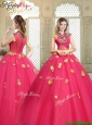 Beautiful High Neck Cap Sleeves Quinceanera Dresses with Appliques