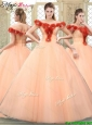 Pretty Off the Shoulder Quinceanera Dresses with Hand Made Flowers