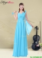 Simple Floor-length Straps Ruching Bridesmaid Dresses