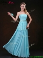 Affordable Strapless Floor Length Elegant Bridesmaid Dresses in Aqua Blue