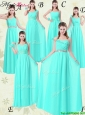 Gorgeous Empire Modest Prom Dresses with Belt in Apple Green
