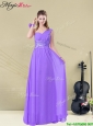 Lovely  Empire Floor Length  Modest Prom Dresses for Fall