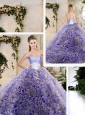 Hot Sale Ruffles Lavender Sweet 16 Dresses with Beading