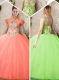 2016 Cheap StrapsQuinceanera Dresses with Beading and Appliques