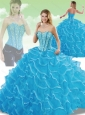 Cute Sweetheart Detachable Quinceanera Dresses with Beading and Ruffles