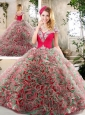Latest Brush Train 2016 Quinceanera Gowns in Multi Color