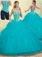 Cute Puffy Sweetheart Detachable Quinceanera Dresses with Beading