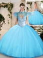 Pretty Sweetheart Aqua Blue Quinceanera Dresses with Beading