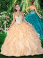 2016 Brand New Ball Gown Sweetheart Quinceanera Dresses with Beading and Ruffles