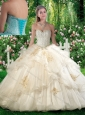 2016 Fashionable Quinceanera Dresses with Beading and Appliques