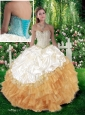 2016 Pretty Ball Gown Quinceanera Dresses with Beading and Pick Ups