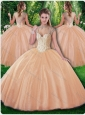 Beautiful Ball Gown Beading Sweet 16 Dresses for Fall
