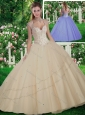 Cute Straps Beading Quinceanera Gowns for 2016