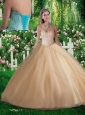 Simple A Line Sweetheart Beading Quinceanera Dresses for 2016