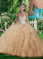 2016 New Style Ball Gown Sweet 16 Dresses with Beading and Ruffles
