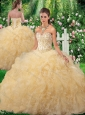 Luxurious Ball Gown 2016 Quinceanera Gowns in Champagne