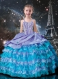 Fashionable Ball Gowns Straps Beading 2016 Little Girl Pageant Dresses