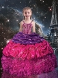 Gorgeous Ball Gown Straps Little Girl Pageant Dresses for 2016