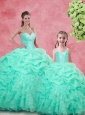 Gorgeous Ball Gown Beading Princesita with Quinceanera Dresses in Apple Green for 2016