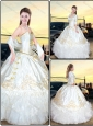 Elegant Sweetheart Quinceanera Dresses with Ruffled Layers and Embroidery