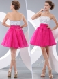 Lovely Princess Strapless Short Cocktail Dresses with Beading