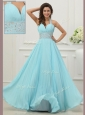 Fashionable Halter Top Prom Dress with Beading and Paillette