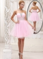 Exquisite Strapless Beading Short Popular Prom Dress for Homecoming