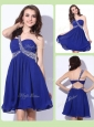 Fashionable One Shoulder Criss Cross Prom Dresses with Beading