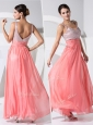 New Arrivals Empire Straps Sequins Prom Dresses in Watermelon