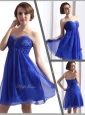 Perfect Sweetheart Beading Short Prom Dresses in Blue