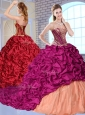 New Arrivals Brush Train Pick Ups and Appliques Quinceanera Dresses