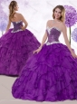 Low Price Ball Gown Sweetheart Quinceanera Dresses with Ruffles and Sequins