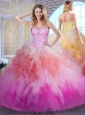 Classical Ball Gown Multi Color Quinceanera Dresses with Beading and Ruffles