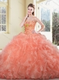 2016 Cute  Ball Gown Beading and Ruffles Sweet 16 Quinceanera Dresses,2.5 Silhouette: Ball Gown