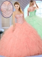2016 Cute Ball Gown Quinceanera Dresses with Beading and Ruffles