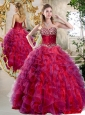Cute A Line Sweetheart Beading and Ruffles Sweet 16 Quinceanera Dresses