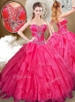 Cute  Ball Gown Sweet 16 Quinceanera Dresses with Beading and Ruffles