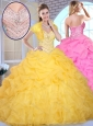 Cute Ball Gown Sweetheart Beading and Pick Ups Quinceanera Dresses