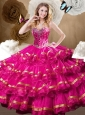 Fashionable Ball Gown Quinceanera Dresses with Beading and Ruffled Layers